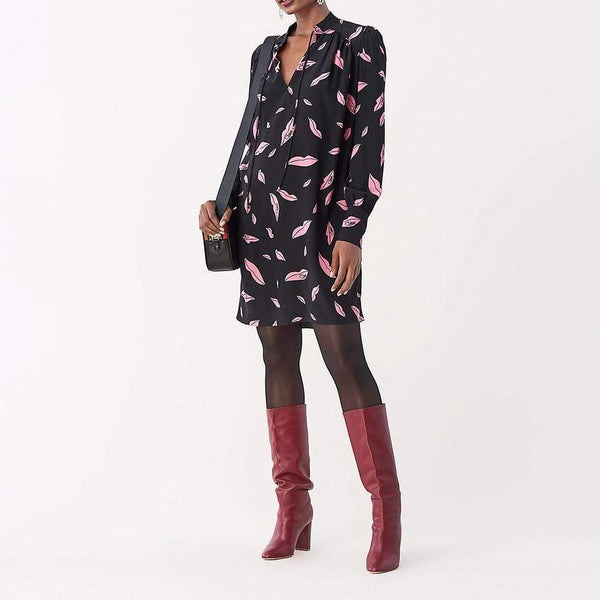 Diane von Furstenberg DVF Glenda Silk De Chine Shirt Dress $428 Zoom Boutique Store dress