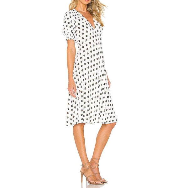 Diane von Furstenberg DVF Jemma Cinch Sleeve Midi Dress $298 Zoom Boutique Store dress