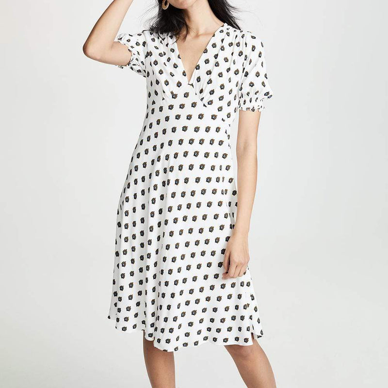 Diane von Furstenberg DVF Jemma Cinch Sleeve Midi Dress $298 - Zoom Boutique Store