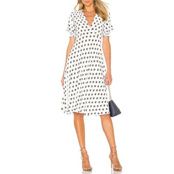 Diane von Furstenberg DVF Jemma Cinch Sleeve Midi Dress $298 2 Zoom Boutique Store dress