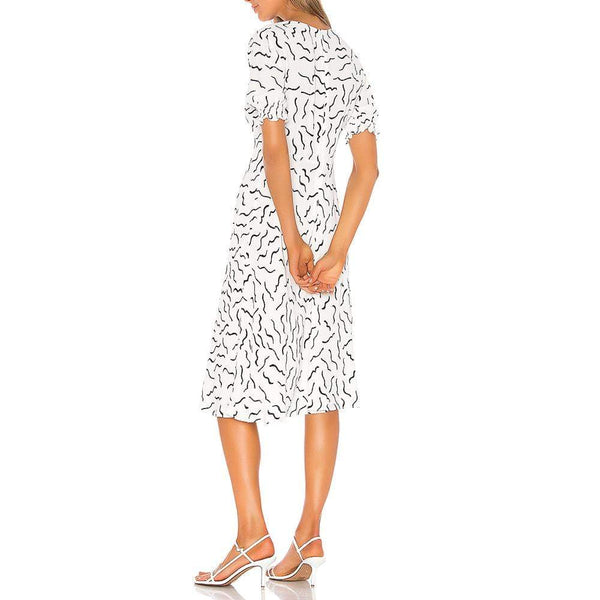 Diane von Furstenberg DVF Jemma V Neck Dress $298 Zoom Boutique Store dress