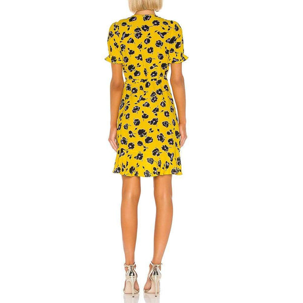 Diane von Furstenberg DVF Kelly Ruffle Crepe Wrap Dress $248 Zoom Boutique Store dress