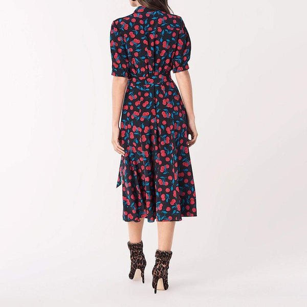 Diane von Furstenberg DVF Lily Silk Crep De Chine Dress $498 Zoom Boutique Store dress