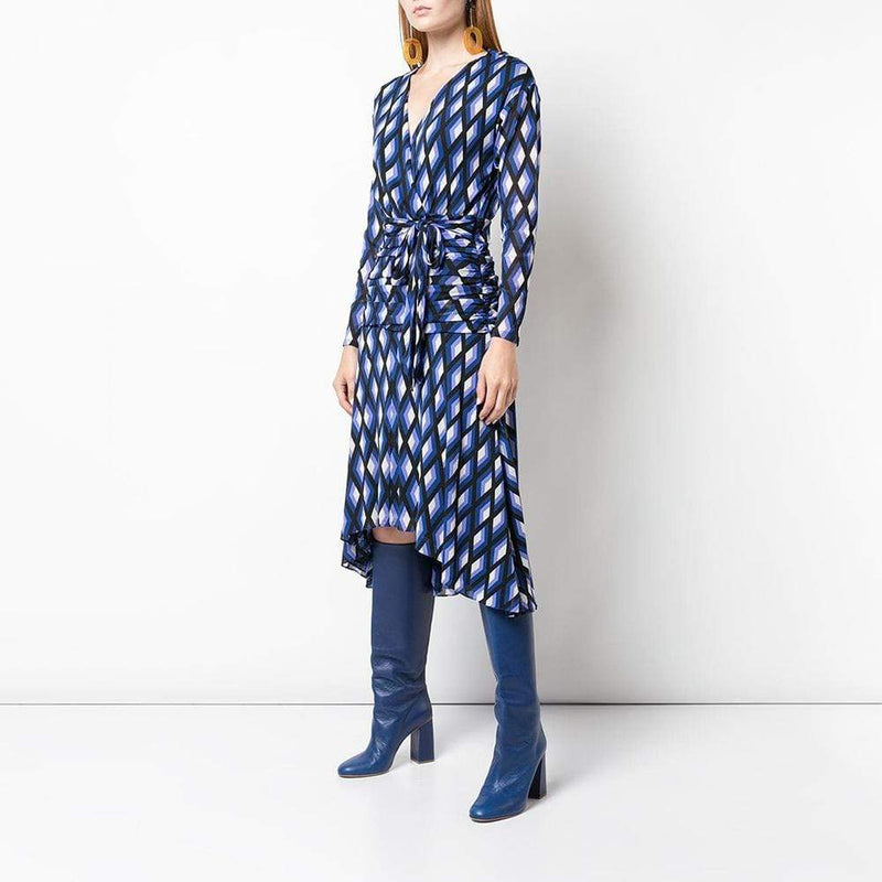 Diane von Furstenberg DVF Rilynn V Neck Wrap Dress RRP$498 - Zoom Boutique Store