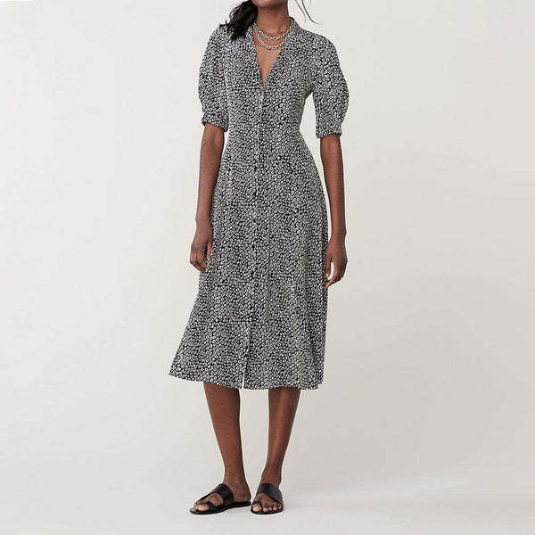 Diane von Furstenberg Lily Silk Crepe De Chine Midi Dress $498 Zoom Boutique Store dress