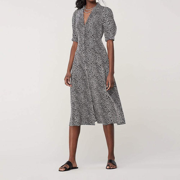 Diane von Furstenberg Lily Silk Crepe De Chine Midi Dress $498 4 Zoom Boutique Store dress