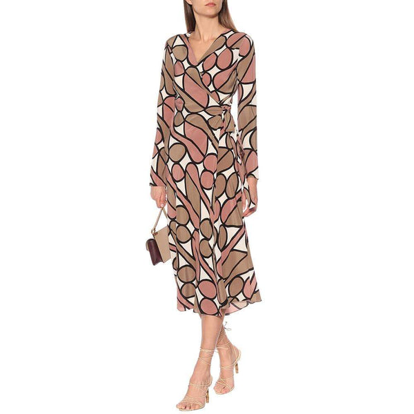 Diane von Furstenberg Tilly Silk Midi Wrap Dress $498 6 Zoom Boutique Store dress