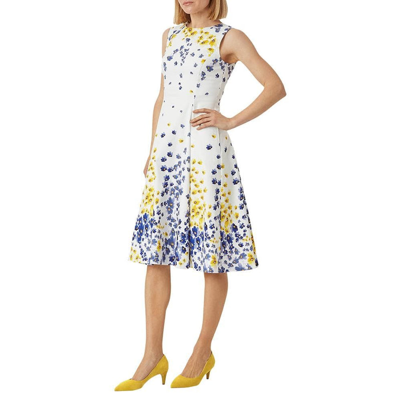 Hobbs Cleo Cotton Blend Floral Fit & Flare Midi Dress RRP$225 Zoom Boutique Store dress Hobbs Cleo Cotton Blend Floral Fit & Flare Midi Dress | Zoom Boutique