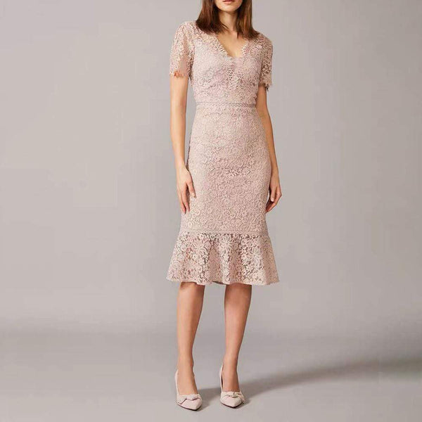 Hobbs Invitation Lace Fishtail Sheath Cocktail Dress RRP$289 - Zoom Boutique Store