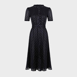 Hobbs Mae Jacquard Spot Fit & Flare Shirt RRP $ 279 - Zoom Boutique Store