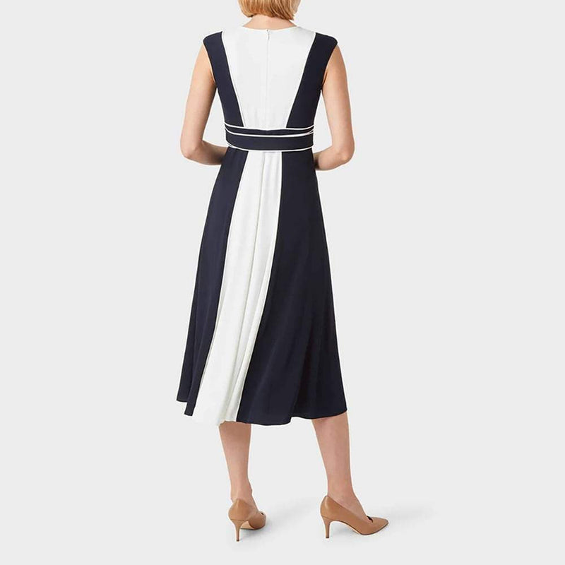 Hobbs Rae Colourblock Tie Waist Fit & Flare Midi Dress RRP$395 Zoom Boutique Store dress Hobbs Rae Colourblock Tie Waist Fit & Flare Midi Dress | Zoom Boutique
