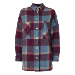IRO Backpa Oversized Flanell Plaid Shirt Jackenmantel UVP $ 520 S Zoom Boutique Store Mantel IRO Backpa Oversized Flanell Plaid Shirt Jackenmantel | Zoom Boutique