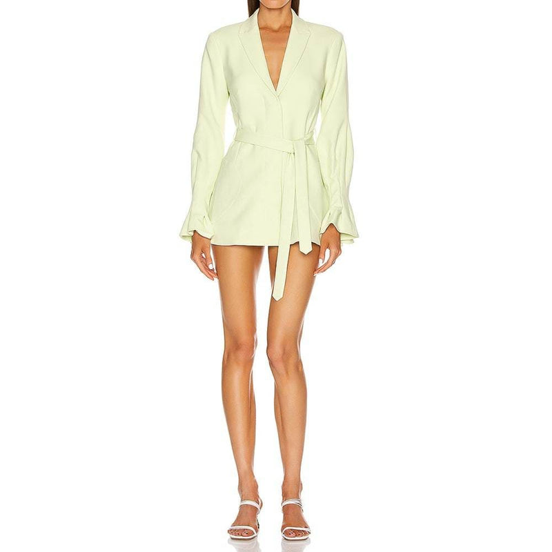Jonathan Simkhai Victoria Lace Hem Blazer Crepe Dress RRP$795 Zoom Boutique Store dress Jonathan Simkhai Victoria Lace Hem Blazer Crepe Dress | Zoom Boutique