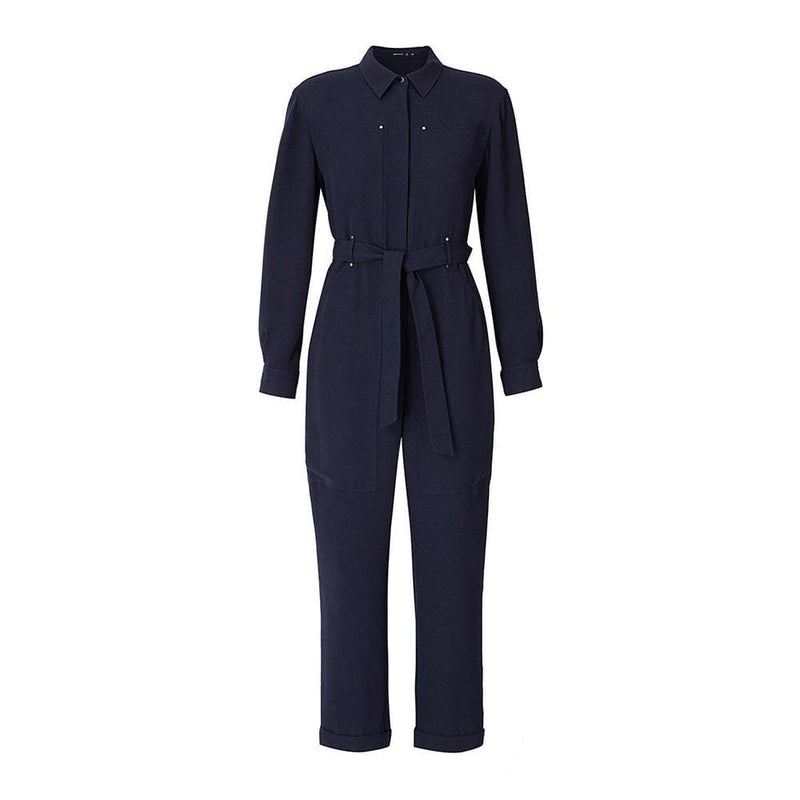 Karen Millen Waist Belt Straight Leg Utility Jumpsuit RRP$342 UK6 Zoom Boutique Store jumpsuit Karen Millen Waist Belt Straight Leg Utility Jumpsuit | Zoom Boutique