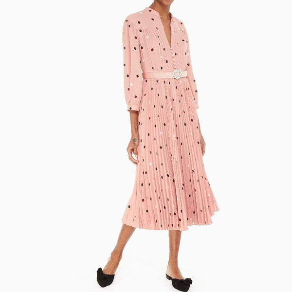 Kate Spade Bakery Polka Dot Fluid Midi $428 0 Zoom Boutique Store dress