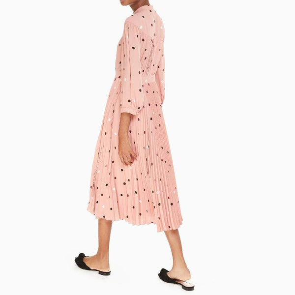 Kate Spade Bakery Polka Dot Fluid Midi $428 Zoom Boutique Store dress