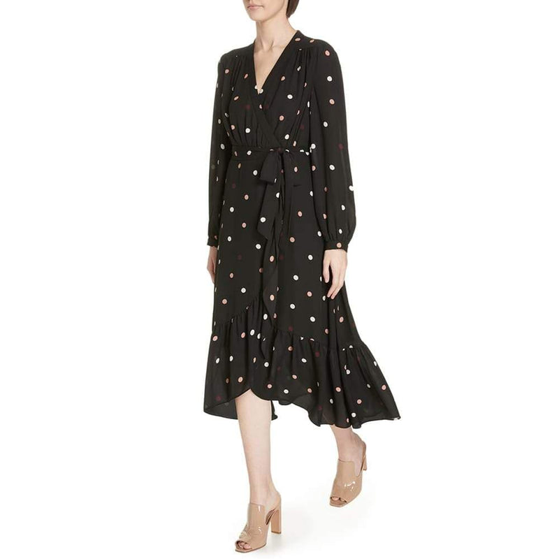 Kate Spade Bakery Polka Dot V Neck Midi Wrap Dress RRP$398 Zoom Boutique Store dress Kate Spade Bakery Polka Dot V Neck Midi Wrap Dress | Zoom Boutique