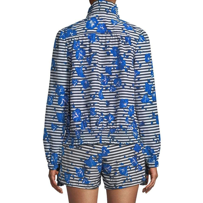 Kate Spade Blue Striped Hibiscus Ribbon Trim Jacket RRP$228 Zoom Boutique Store jacket Kate Spade Blue Striped Hibiscus Ribbon Trim Jacket | Zoom Boutique