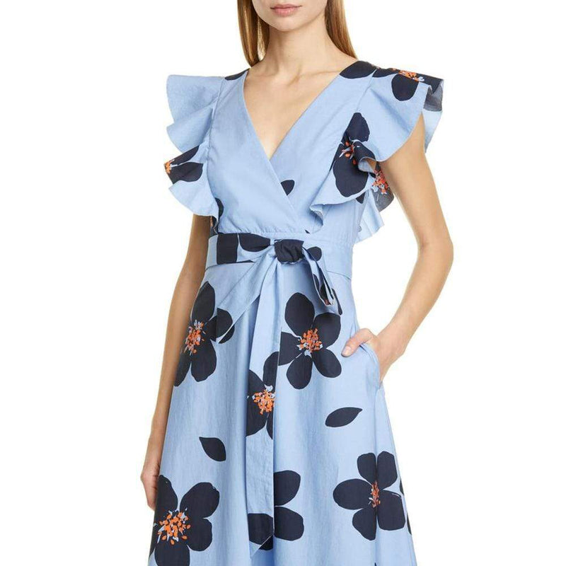Kate Spade Grand Flora Poplin Midi Dress $378 - Zoom Boutique Store