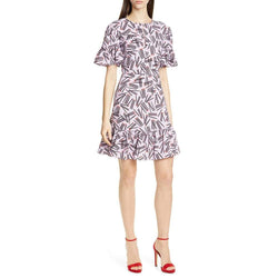 Kate Spade Matches Crêpe Ruffle Trim Kleid UVP $ 378 - Zoom Boutique Store