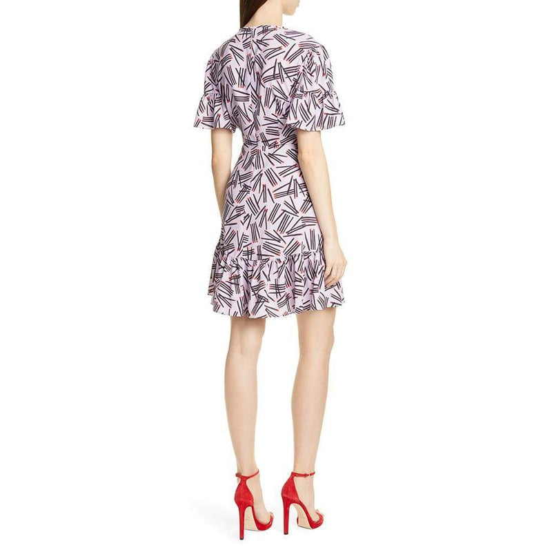 Kate Spade Matches Crepe Ruffle Trim Dress RRP$378 - Zoom Boutique Store