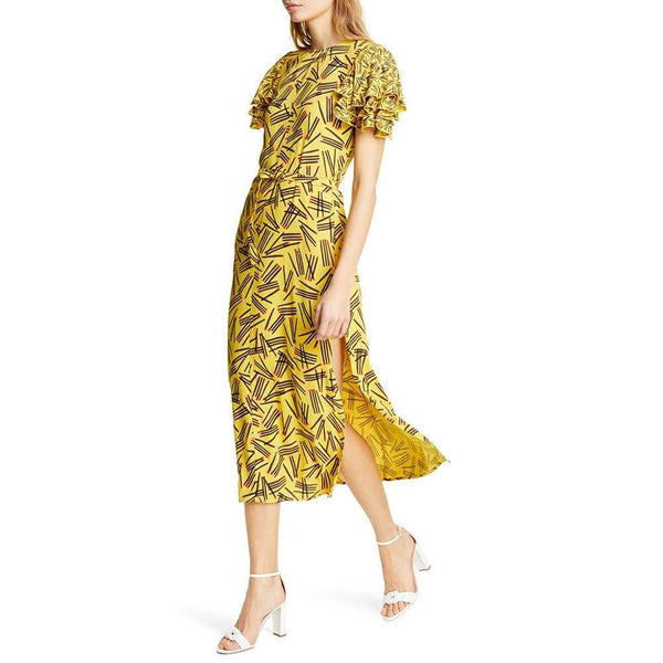 Kate Spade Matches Crepe Sheath Midi Dress $428 0 Zoom Boutique Store dress