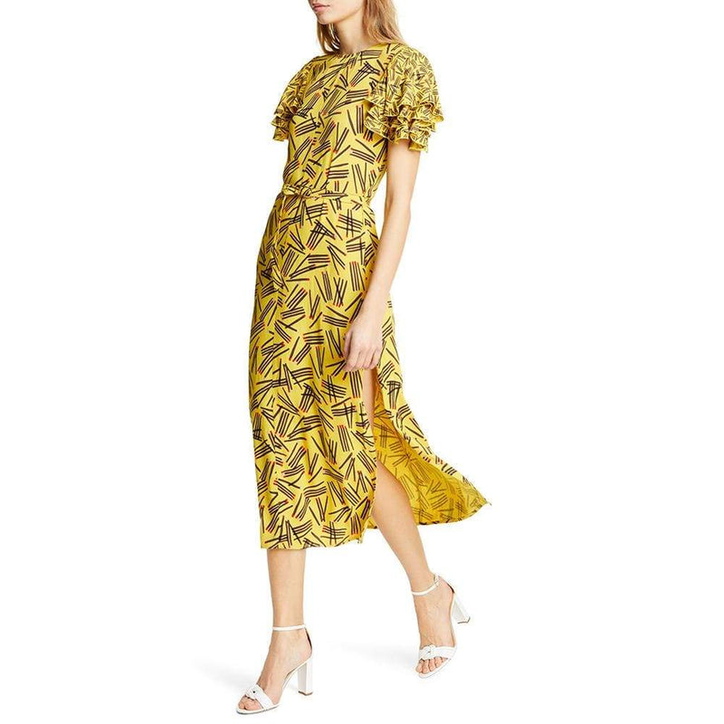 Kate Spade Matches Crepe Sheath Midi Dress RRP$428 - Zoom Boutique Store