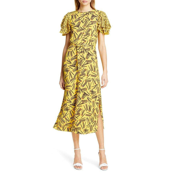Kate Spade Matches Crepe Sheath Midi Dress $428 Zoom Boutique Store dress