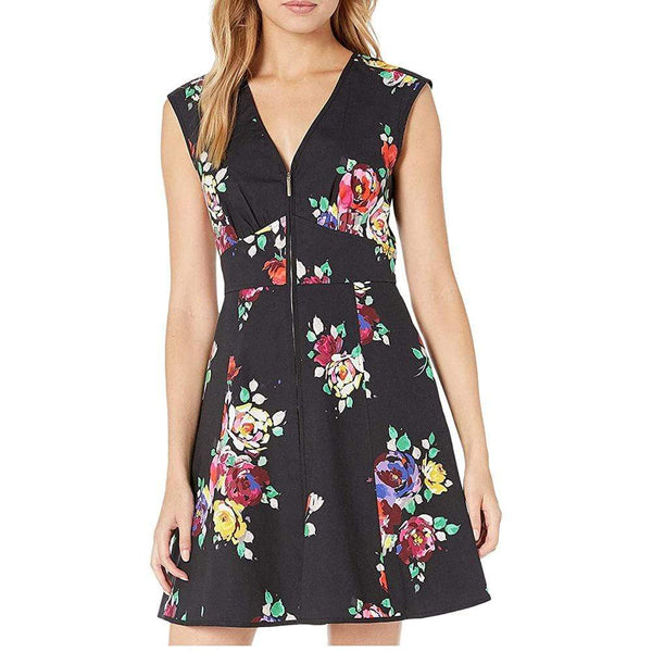 Kate Spade New York Rare Roses Poplin V Neck A Line Dress $398 2 Zoom Boutique Store dress