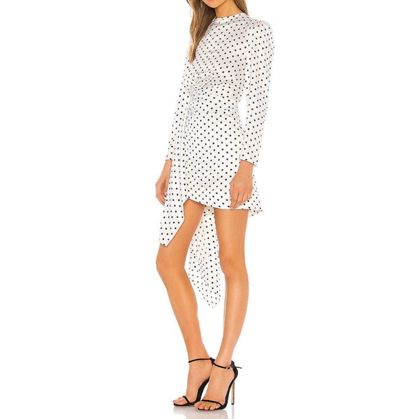KEEPSAKE Foolish Draped Polka Dot Mini Dress RRP$185 - Zoom Boutique Store
