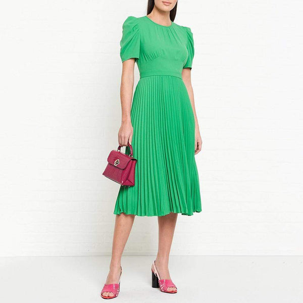 L. K. Bennett Avalon Pleated Shift Midi Dress $370 - Zoom Boutique Store
