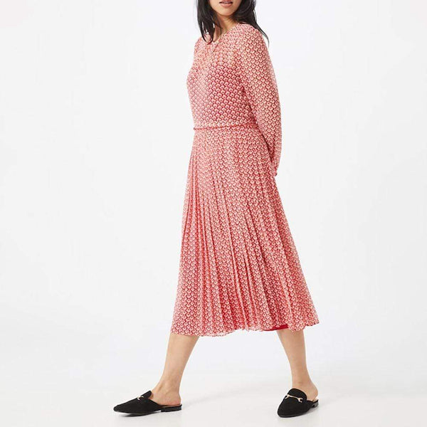 L. K.Bennett Avery Block Print Pleated Fit & Flare Midi Dress Zoom Boutique Store dress L. K.Bennett Avery Block Print Pleated Midi Dress | Zoom Boutique