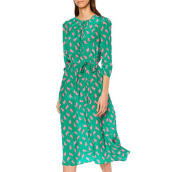 L.K.Bennett Dorothy Sail Print Draped Silk Fit & Flare Dress RRP$490 Zoom Boutique Store dress L.K.Bennett Dorothy Sail Print Silk Fit & Flare Dress | Zoom Boutique