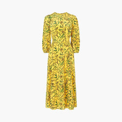 L.K.Bennett Kaia Silk Fit & Flare 3/4 Blouson Sleeves Midi Dress RRP$480 UK12 Zoom Boutique Store dress L.K.Bennett Kaia Fit Flare Blouson Sleeves Midi Dress | Zoom Boutique