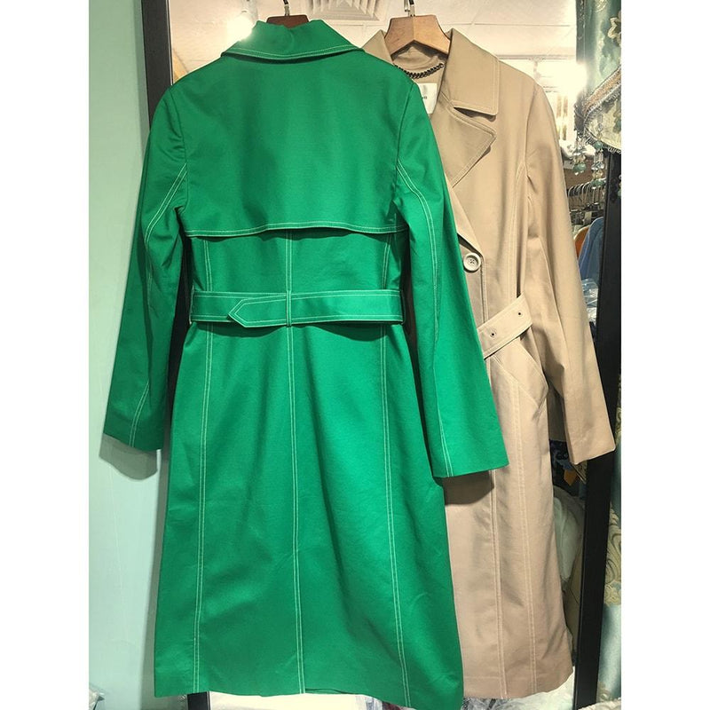 L.K. Bennett Kaylee Cotton Blend Tie Belt Trench Coat RRP$390 Zoom Boutique Store coat L.K. Bennett Kaylee Cotton Blend Tie Belt Trench Coat | Zoom Boutique