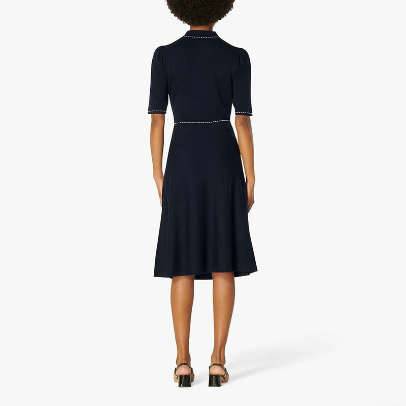 L.K.Bennett Liv Cotton Merino Wool Knit Fit & Flare Dress Zoom Boutique Store dress L.K.Bennett Liv Cotton Merino Wool Knit Fit Flare Dress| Zoom Boutique