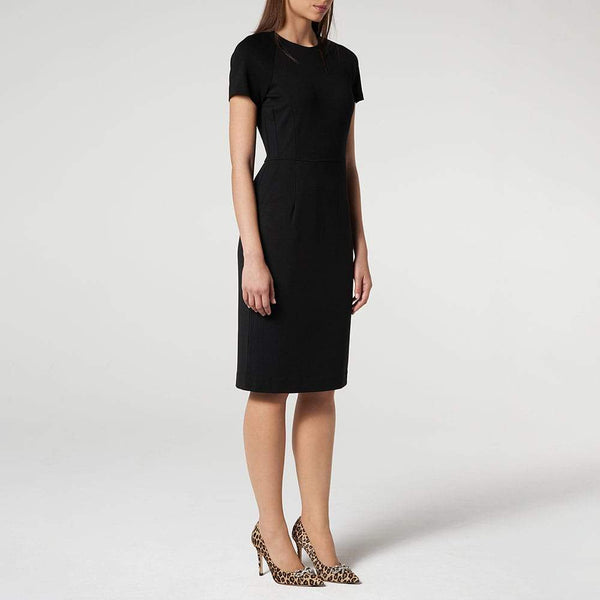 L.K.Bennett Liya Black Jersey Tailored Pencil Shift Dress Zoom Boutique Store dress L.K.Bennett Liya Jersey Tailored Pencil Shift Dress | Zoom Boutique