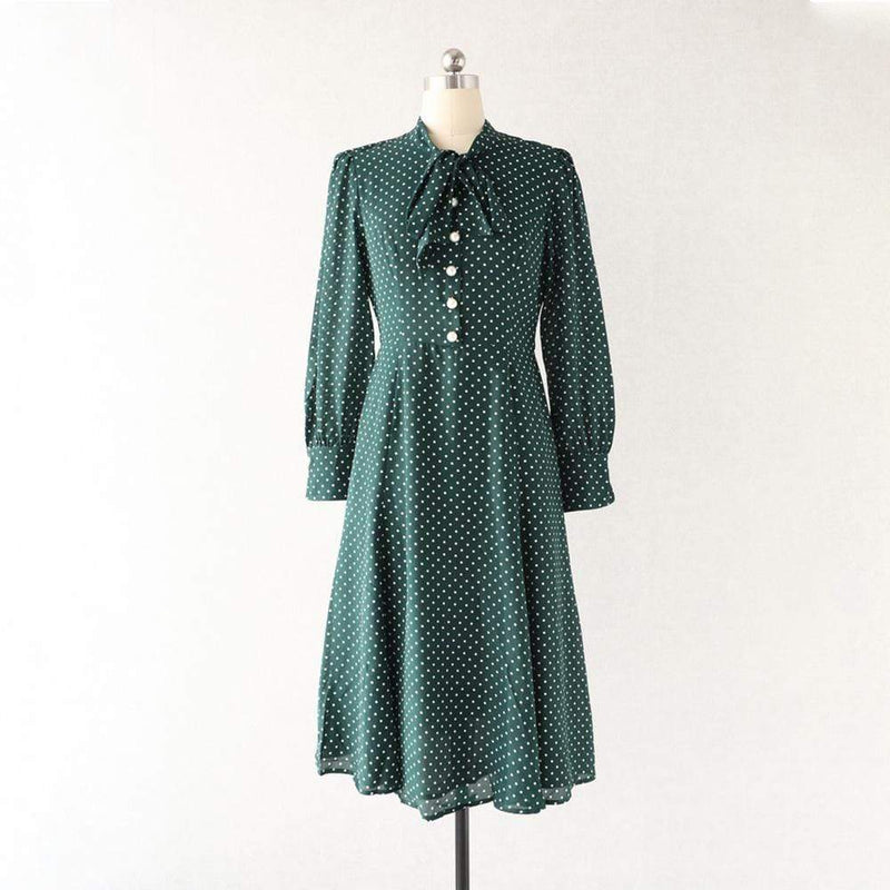 L. K. Bennett Mortimer Green Polka Dot Silk Dress RRP$425 - Zoom Boutique Store