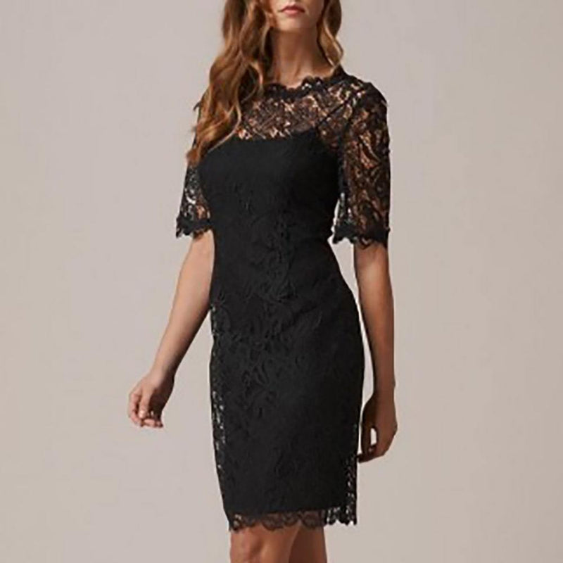 L. K.Bennett Sasha Sheer Floral Lace Shift Dress RRP$460 Zoom Boutique Store dress L. K.Bennett Sasha Sheer Floral Lace Shift Dress | Zoom Boutique