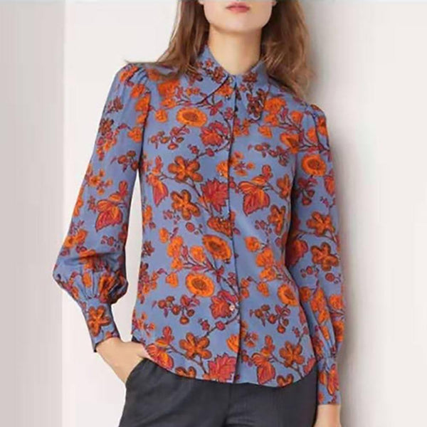 L.K.Bennett Sonya Floral Collar Neck Silk Crepe Blouse Shirt Zoom Boutique Store shirt L.K.Bennett Sonya Floral Collar Silk Crepe Blouse Shirt| Zoom Boutique