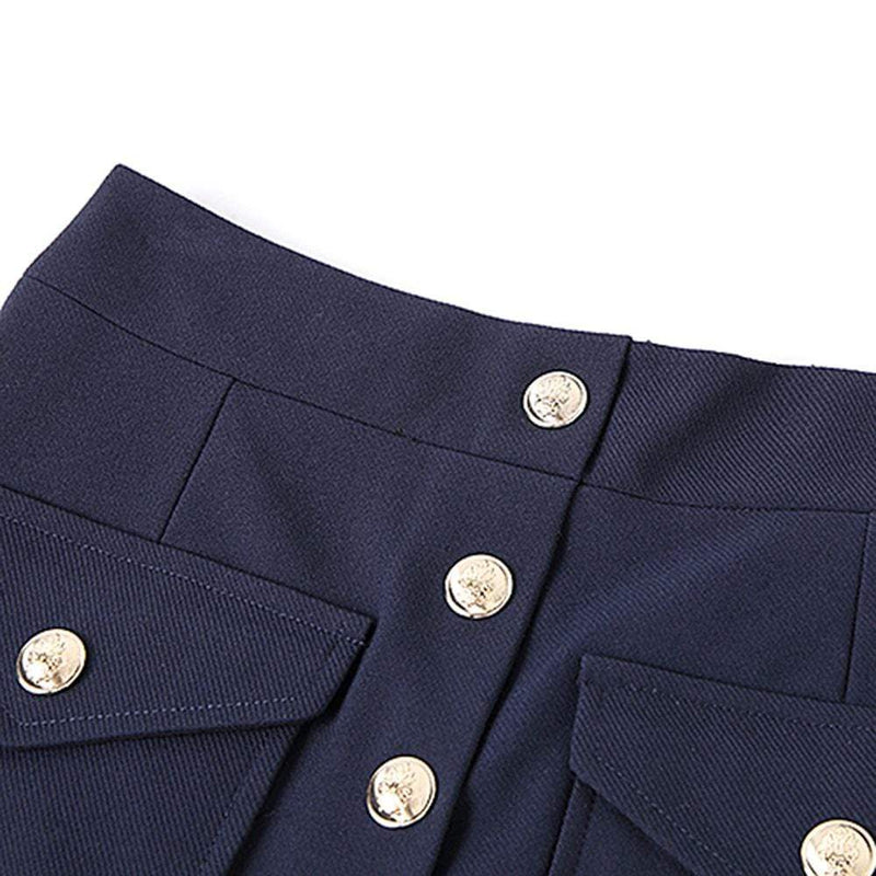 Maje Janao Woven Button Pockets Straight Hem Mini Skirt RRP$265 Zoom Boutique Store skirt Maje Janao Woven Button Pockets Straight Hem Mini Skirt| Zoom Boutique