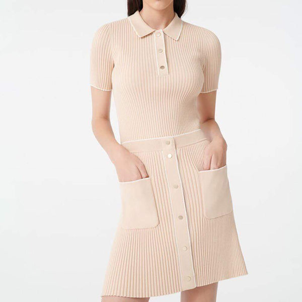 Maje Jarina Ribbed Knitted Skirt + Marina Trim Top $205+$175 S Zoom Boutique Store dress