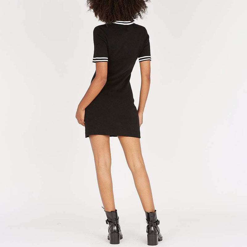 Maje Ravela Black Plain Fitted Tweed Mini Dress $375 - Zoom Boutique Store