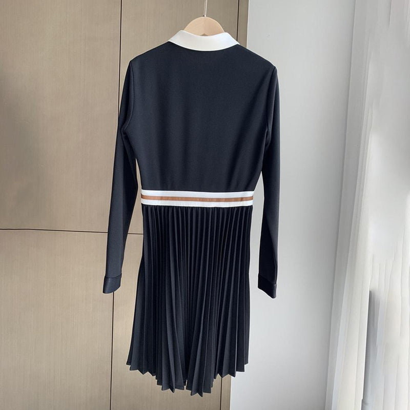Maje Roulia Embroidered Pleated Skirt Crepe Dress RRP$375 Zoom Boutique Store dress Maje Roulia Embroidered Pleated Skirt Crepe Dress | Zoom Boutique