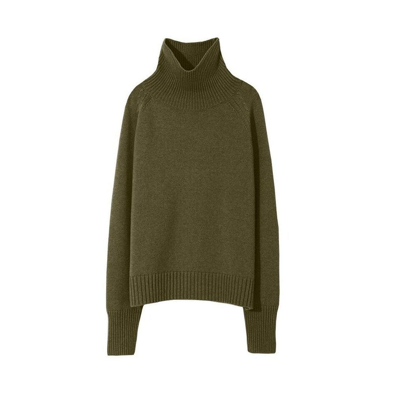 Mariah Funnel Neck Cashmere Sweater Knit Jumper XS / Green Zoom Boutique Store sweater Nili Lotan Mariah Funnel Neck Cashmere Sweater Jumper | Zoom Boutique