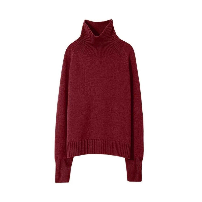 Mariah Funnel Neck Cashmere Sweater Knit Jumper XS / Merlot Zoom Boutique Store sweater Nili Lotan Mariah Funnel Neck Cashmere Sweater Jumper | Zoom Boutique
