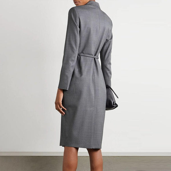 MaxMara Hidalgo Long Sleeves Belted Waist Dress Zoom Boutique Store dress MaxMara Hidalgo Long Sleeves Belted Waist Dress | Zoom Boutique