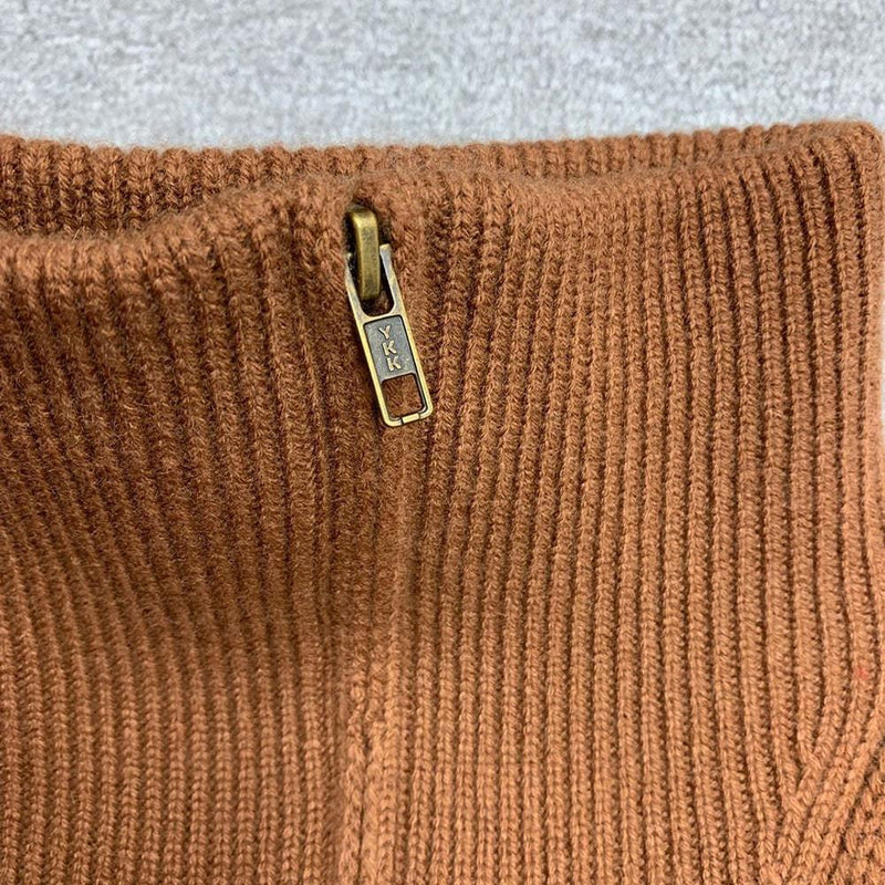 Nili Lotan Angela Cable Knit Half Zip Cashmere Sweater Jumper Zoom Boutique Store sweater Nili Lotan Angela Cable Knit Cashmere Sweater Jumper | Zoom Boutique