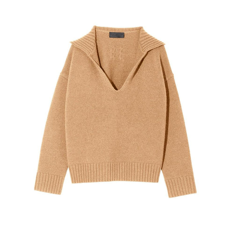 Nili Lotan Julie Oversized Cashmere Sweater Jumper RRP$795 XS / Camel Zoom Boutique Store sweater Nili Lotan Julie Oversized Cashmere Sweater Jumper | Zoom Boutique