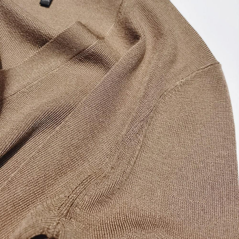 Nili Lotan Ludlow V Neck Ribbed Silk Knitted Sweater Cardigan Zoom Boutique Store cardigan Nili Lotan Ludlow V Neck Ribbed Silk Knitted Cardigan | Zoom Boutique
